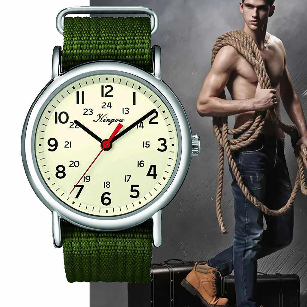 Reloj 2019 para Hombre, nueva marca de moda, deportivo militar, diseño Retro de lujo, de nailon de alta calidad