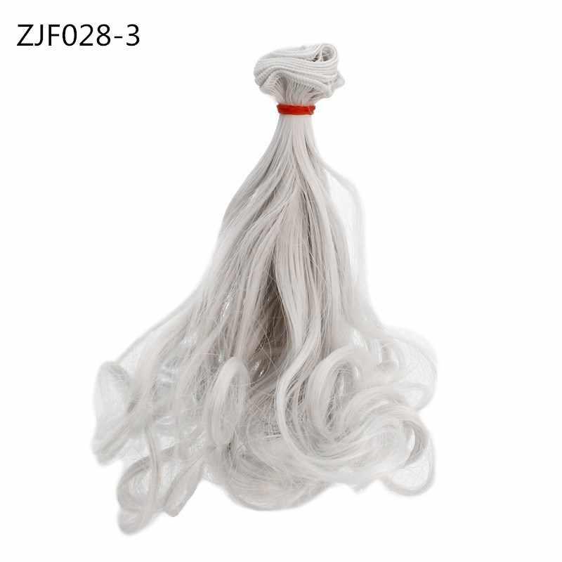 15*100cm mode cheveux pour poupées accessoires poire Curl coloré perruque haute température matériel boucles habiller BJD poupées cheveux jouets