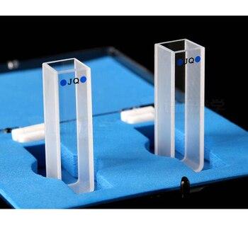 Quartz Cuvette 10mm Path Export light Glue Process Experiment Transparent high Temperature Resistant Acid Alkal B10mm-3.5mlQc