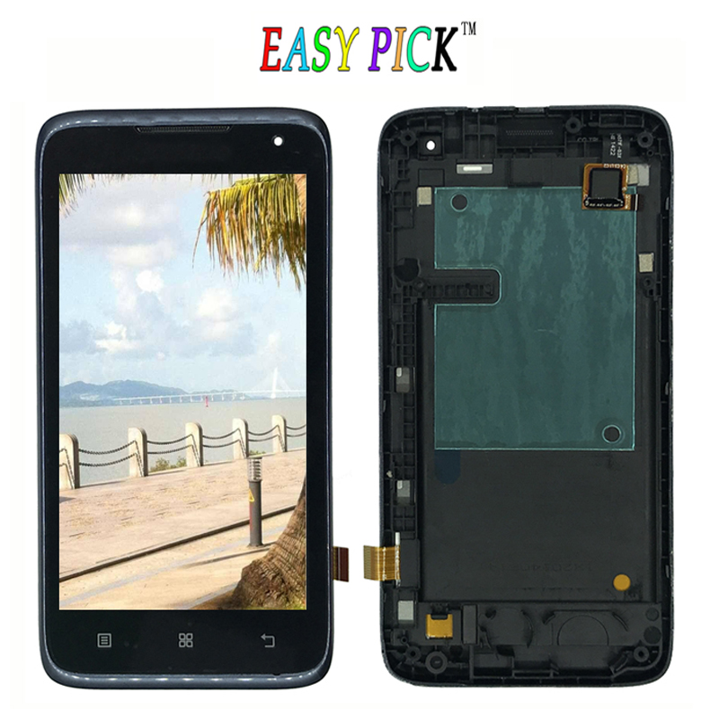 Black For lenovo A526 LCD Display Touch Screen Digitizer Assembly Replacement with frame