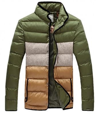 Blue green warm fashion Cotton-padded jacket casacos masculino 2016 jackets for men clothes brands clothing short coats 4XL 5XL