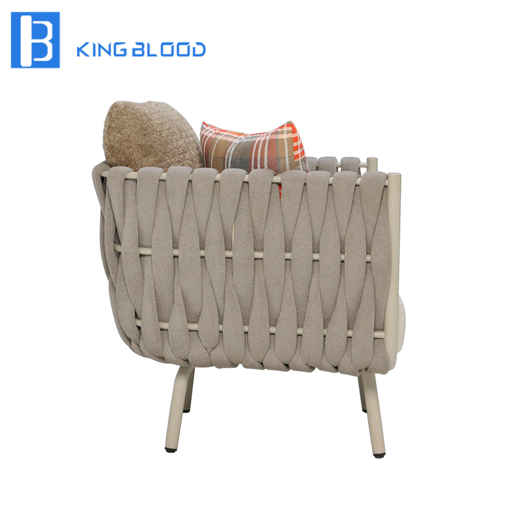 Woven metal furniture Basket Outdoor Woven Furniture For Hotel Metal Rope Garden Sofa Chairin Garden Sofas From Furniture On Aliexpresscom Alibaba Group Designsponge Outdoor Woven Furniture For Hotel Metal Rope Garden Sofa Chairin