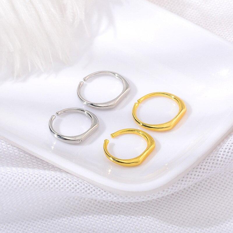 De alta Qualidade Da Moda Simples Superfina Casal Anel Pequeno Anel de Dedo do Anel de Casamento Para Os Amantes
