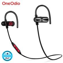 Oneodio หูฟังบลูทูธ IPX7 กันน้ำหูฟังไร้สายสเตอริโอกีฬาชุดหูฟังพร้อมไมโครโฟนสำหรับโทรศัพท์ Xiaomi aptX