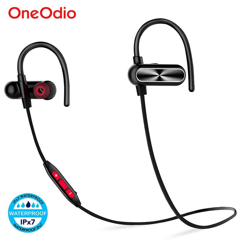 Oneodio auriculares Bluetooth IPX7 impermeable auricular inalámbrico Bluetooth 4,1 deportes auriculares con micrófono para teléfono Xiaomi aptx