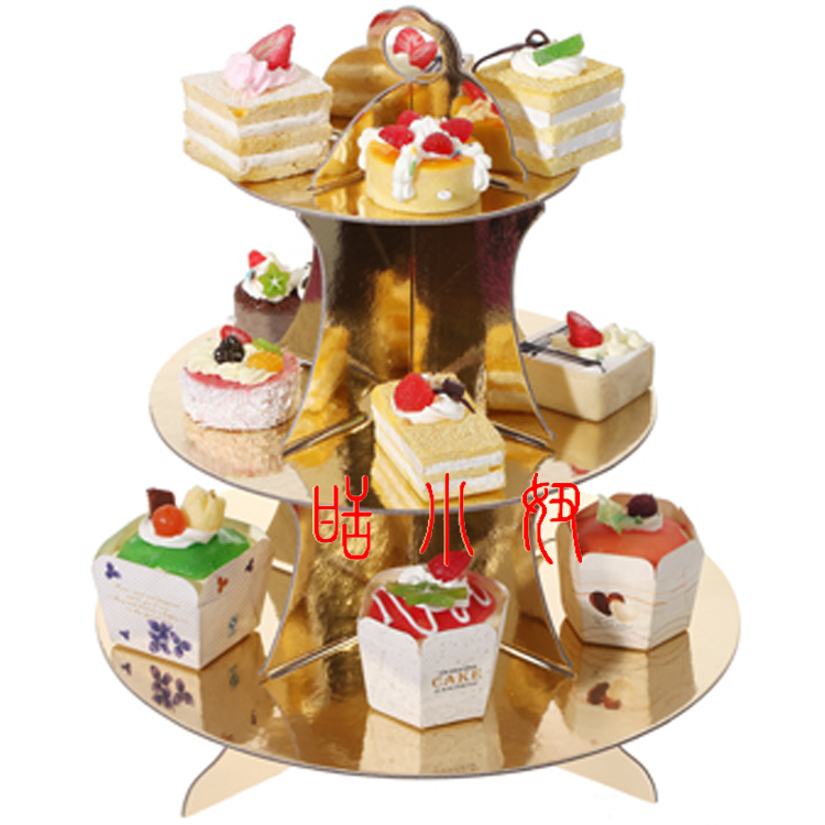 buy ipalmay 3 tier cupcake stand gold and silver decoration wedding cake plate stands kids party favors dessert station supply from