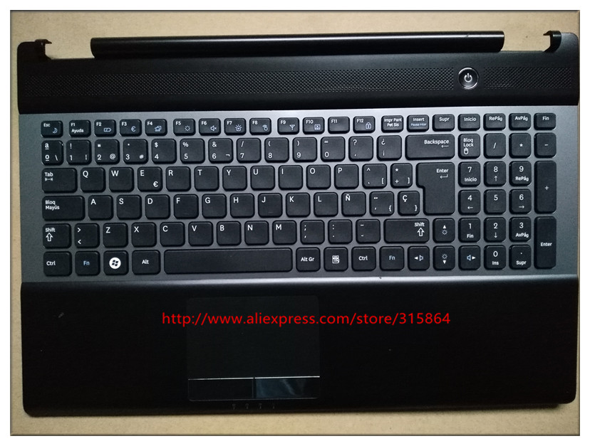 New laptop keyboard with touchlpad  palmrest for SAMSUNG NP RC530 RC528 BA75-03202D SP spain layout laptop palmrest