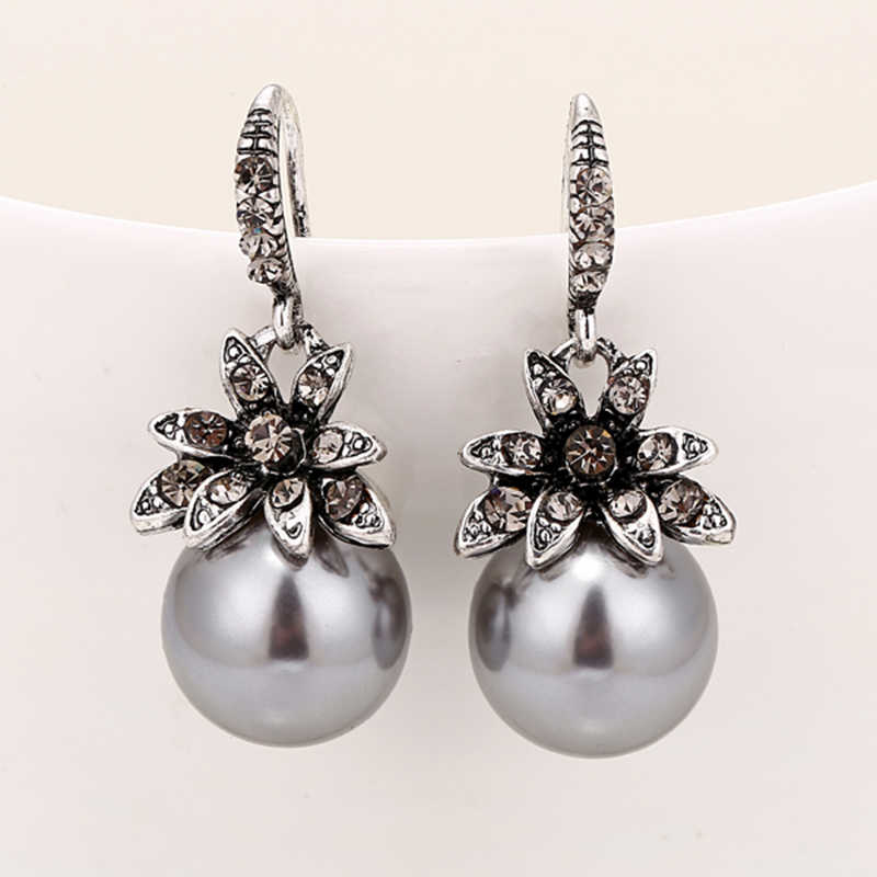 YAOLOGE ファッション模造真珠のイヤリング象眼細工のラインストーン絶妙なチャーミング結婚式の宝石 3 色オプション