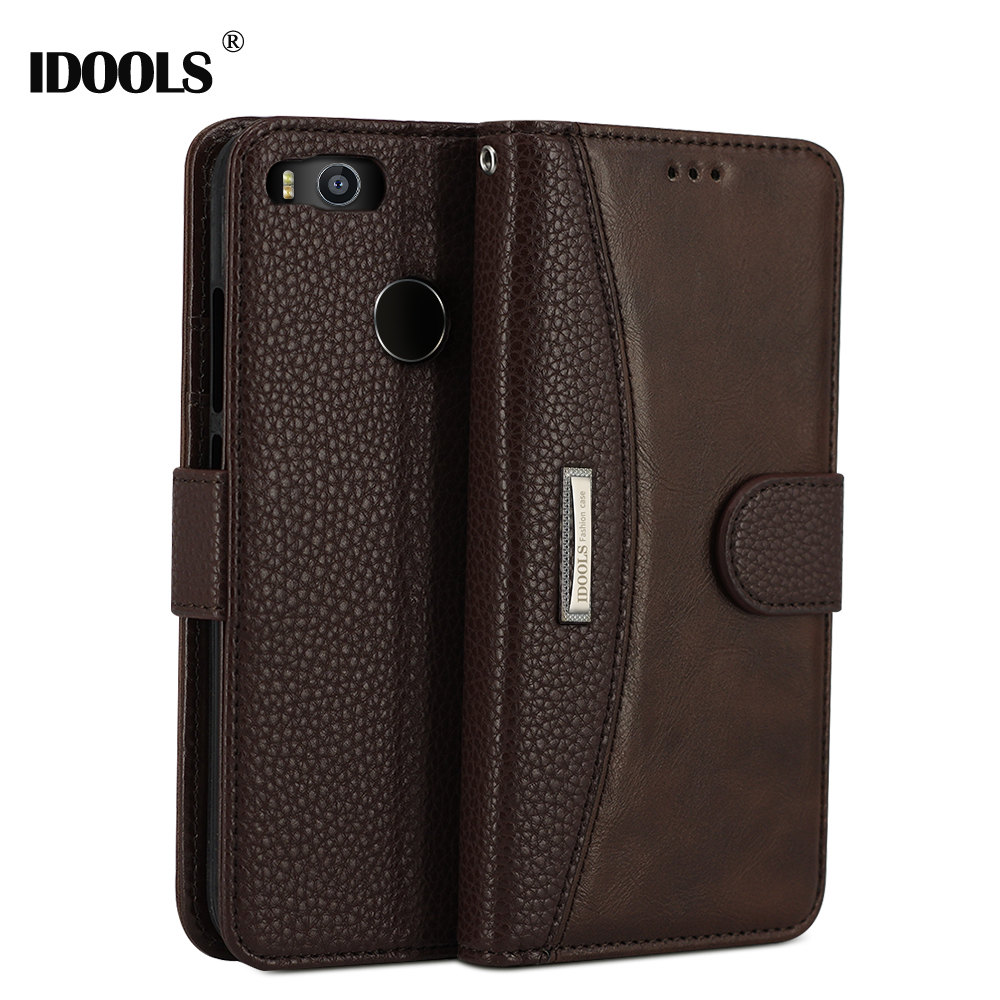 IDOOLS For Xiaomi mi A1 Case MiA1 PU Leather Luxury Mi A 1 Wallet Flip Card Holder 5.5'' Phone Bags Cases For Xiaomi Mi A1 Coque