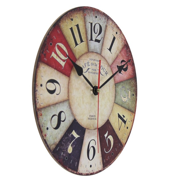 Vintage Wooden Wall Clock 8