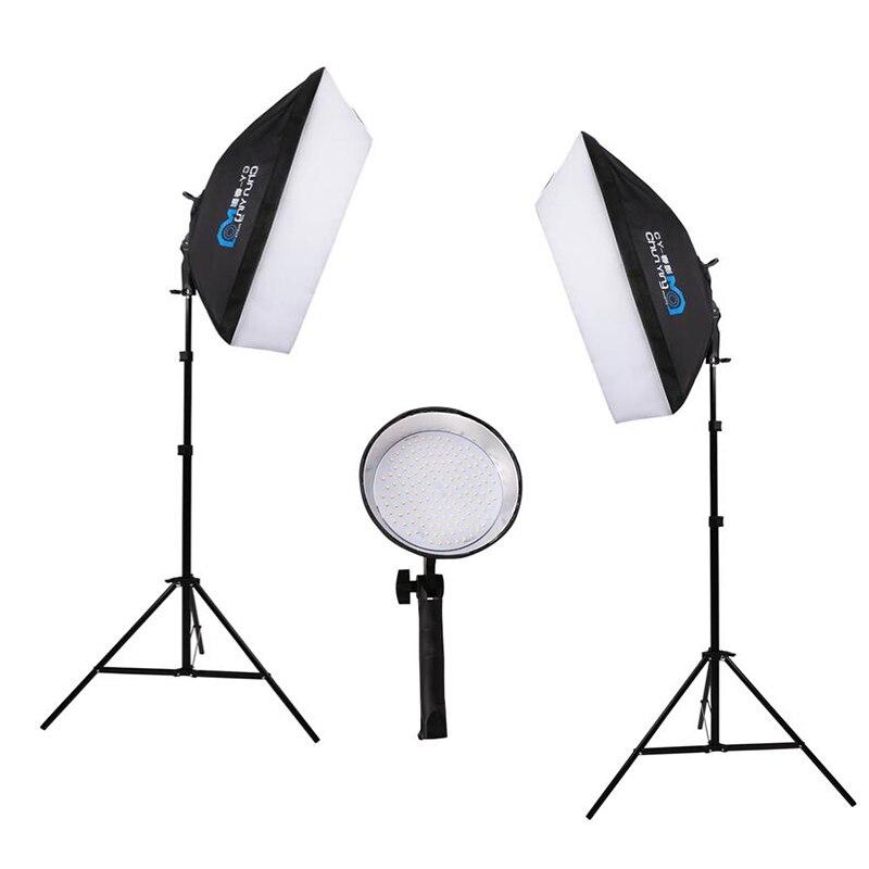 Softbox Light Bulbs: Photography studio LED video light 50 * 70cm Softbox 110V-230V power supply  144 LED,Lighting