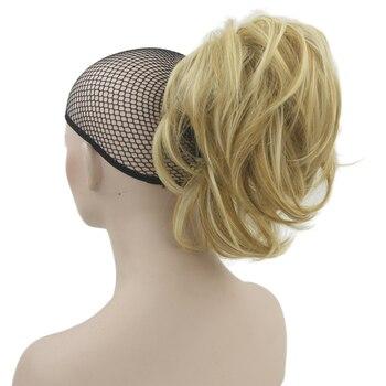 Soowee 10 색 물결 모양의 hairpieces 클로 포니 테일 합성 머리 금발 회색 작은 조랑말 꼬리 클립 헤어 익스텐션