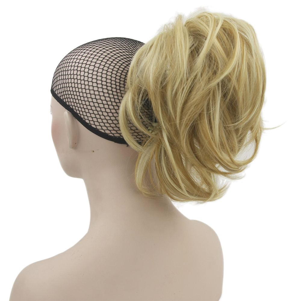 Soowee 10 Couleurs Ondulés Postiches Griffe Queue de Cheval Synthétique Cheveux Blonds Gris Petit Poney Queue Clip En Extension De Cheveux