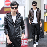 2016 Casual Male Leather Clothing Turn Down Collar Man Quality Outerwear Real Sheep Skin Leather Jacket