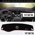 Car dashboard Avoid light pad Instrument platform desk cover Mats Carpets 3D Stickers For Mercedes Benz GLC GLA CLA A/B/C Class