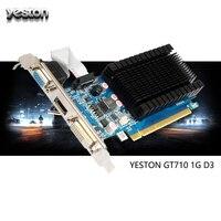 Original Yeston Geforce GT 710 Gaming Graphics Card GPU 1GB GDDR3 64bit Desktop Computer PC Video