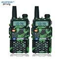 Российские акции 2 ШТ. камуфляж BaoFeng УФ-5R walkie talkie трансивер CB радио baofeng uv5r 5 Вт УКВ Dual Band двухстороннее радио