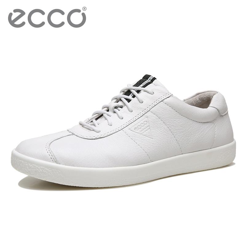 0d102e3c Ecco men's new casual shoes youth comfortable men's shoes trend leather  men's shoes white flat shoes 400514