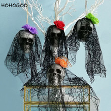 HOHOGOO 1pc Halloween Foam Skull Decorations Haunted House Horror Props Festival Party Supplies