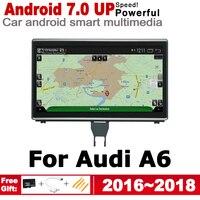 hd מסך 7.0 אנדרואיד עד מולטימדיה לרכב נגן ניווט GPS עבור אאודי A6 4G 2016 ~ 2018 MMI מקורי סגנון HD מסך 2GB + 32GB WiFi BT AUX (1)