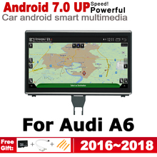 Android 7.0 up Car Multimedia Player GPS Navigation For Audi A6 4G 2016~2018 MMI Original Style HD Screen 2GB+32GB WiFi BT AUX