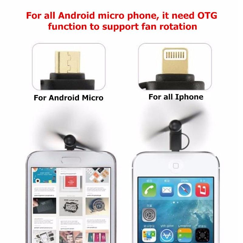 Kleine Klimaanlage Geräte Fans Mini Micro Usb Fan Tragbare Kühlung Reise Fan Für Android-handy