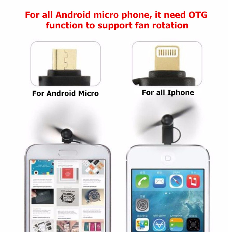 Mini Micro Usb Fan Tragbare Kühlung Reise Fan Für Android-handy Haushaltsgeräte Haushaltsgeräte