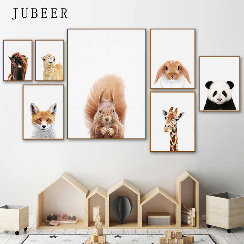Nursery Animal Print Posters and Prints For Baby Room Canvas Paintings Animals Posters for Living Room Decoration Pictures