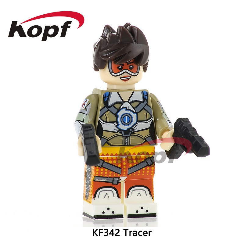Single Sale OW Tracer Joker Spiderman Ram-Man Man-At-Arms Faker Building Blocks Super Heroes Brick Children Gift Toys KF342 single sale super heroes stitch batman spiderman iron man deadpool duck bricks action building blocks children gift toys da009