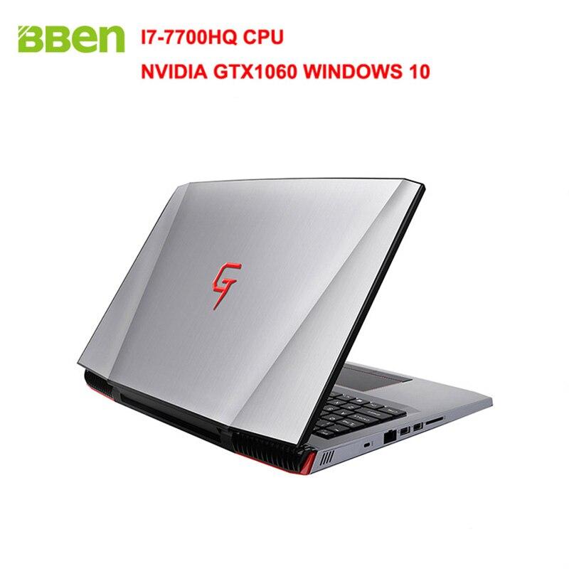 BBEN G16 15 6 Windows 10 Intel I7 7700HQ CPU NVIDIA GTX1060 GDDR5 6GRam 16G DDR4
