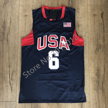 bcce60ff595d WaterMonkey Mens 10 Kobe Bryant 6 LeBron James 2008 Dream Team USA  Basketball Jersey