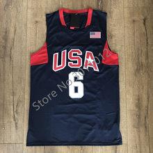 df342cd04 Mens  10 Kobe Bryant  6 LeBron James 2008 Dream Team USA Basketball Jersey S