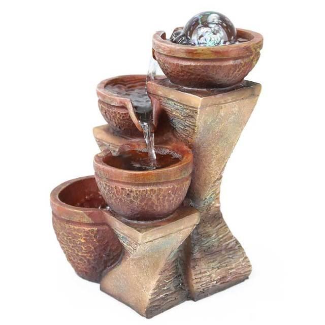 Fengshui S fontaine résine paysage en pot   Décoration deau, petite fontaine, Art moderne, Vintage, maison créative, humidificateur