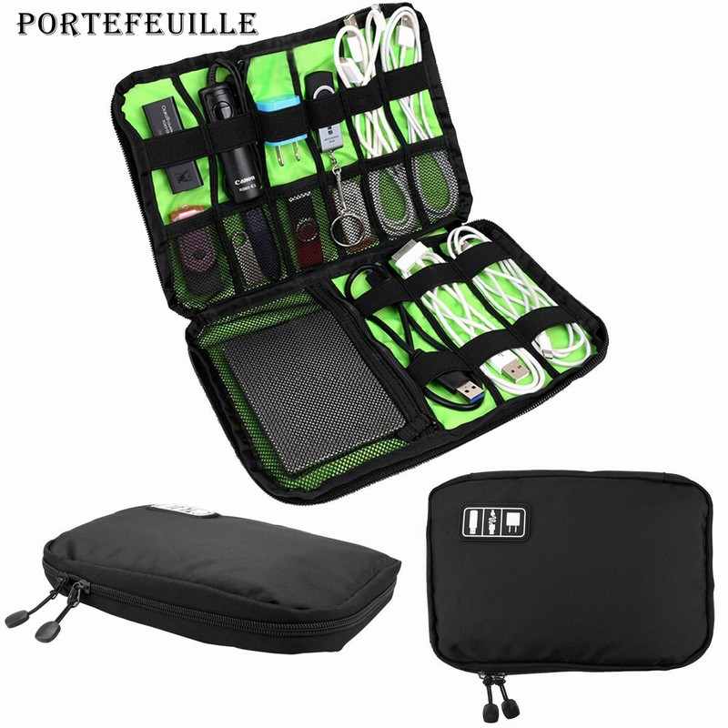 Portefeuille Cable Organizer Electronics Accessories Travel Bag for Hard Drive U