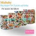 Miababy/feliz flauta 1 pcs big bolso fralda para 2 anos acima do bebê, tamanho ajustável e se encaixa cintura 36-58 cm