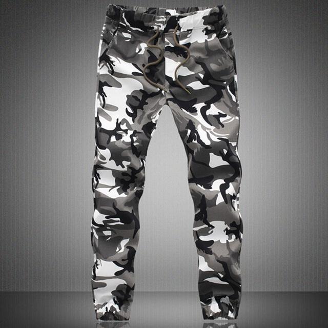 5XL Plus pantalones de los hombres llegan nuevos seguidores Del Ejército de camuflaje pantalones de los hombres de la buena calidad de algodón Pantalones deportivos venta Caliente K1