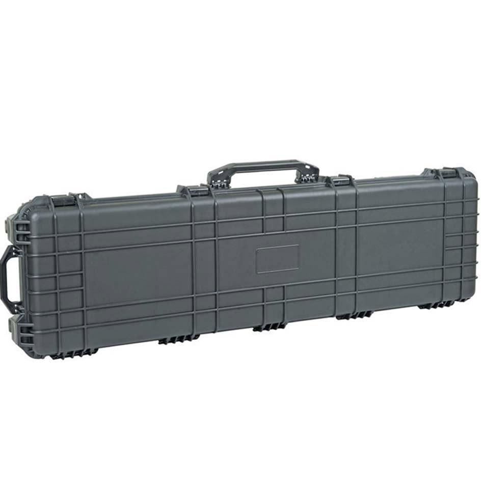 Formato interno 1282*343*133mm lungo impermeabile antiurto in plastica gun case con ruote e schiuma