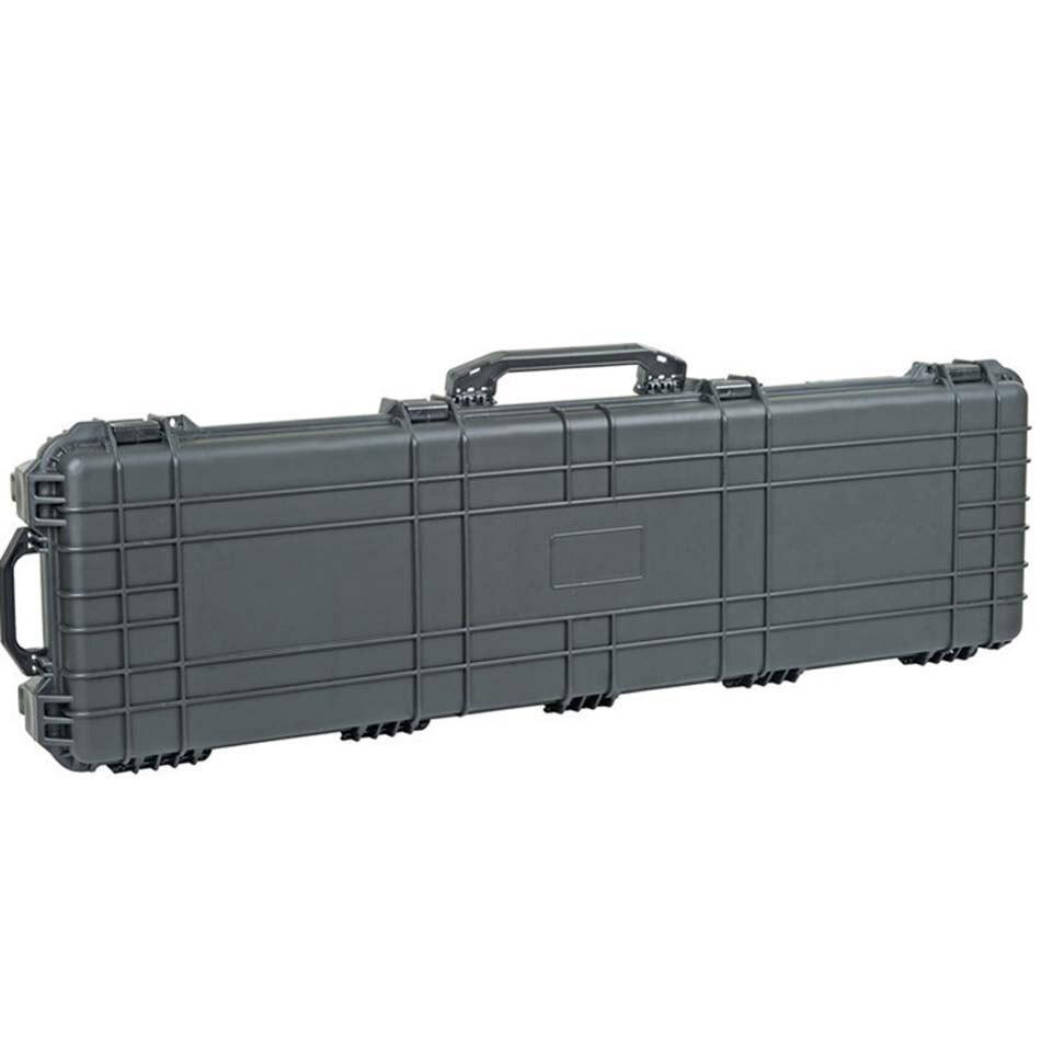 Interne 1282*343*133mm grande taille en plastique antichoc étanche étui de pistolet avec roues et mousse