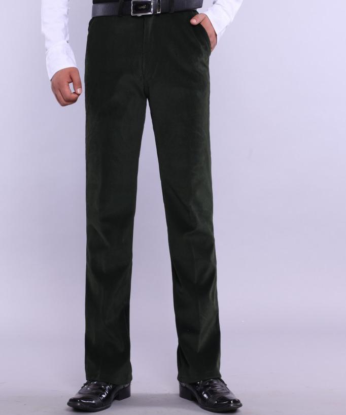 Мужские брюки Spirng, большие размеры, повседневные, на молнии, фланелевые, прямой максимальной длины, мужские зимние свободные брюки на молнии - Цвет: 5