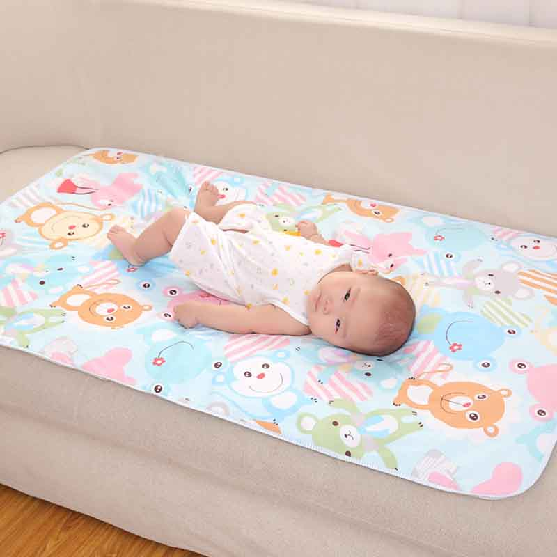 Baby Infant Toddler Bamboo Fiber Washable Diaper Changing Mat Pad 8C