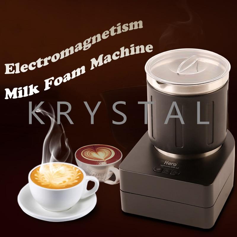 Electric coffee milk Foam machine automatic milk mixer/ milk foam Maker Small Household Milk Foam Machine household electric hot and cold milk foam machine coffee milk foam machine automatic milk mixer foam maker hn 1300