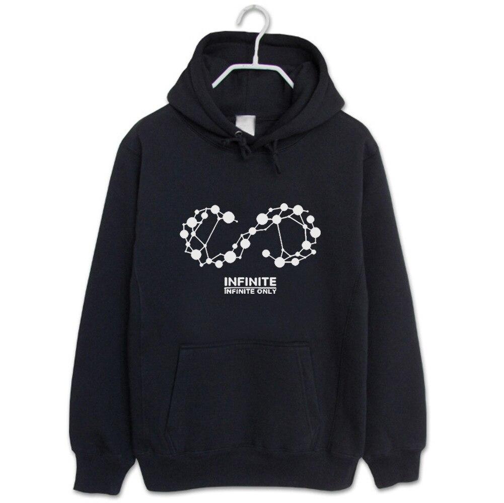 kpop INFINITE album same loose fashion women hoodies korea men women Spring autumn hooded sweatshirts cotton Harajuku clothes