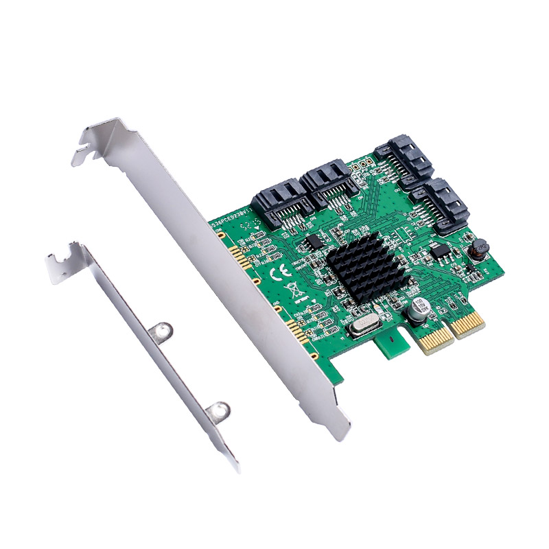 4 Port SATA 3.0 Internal PCI-Express X1 6Gb//s Expansion Card Chipset For Marvell