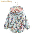 Next* 2017 Baby Girl Jackets Coats Cartoon Graffiti Hooded Windbreaker For Toddler Girls Boys 2017 Spring Kids Jacket Outerwear