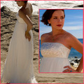 New Empire Bridal Dress A-Line Chiffon Beaded Crystal Maternity Formal Gown Floor-Length Wedding Dress ZX1287