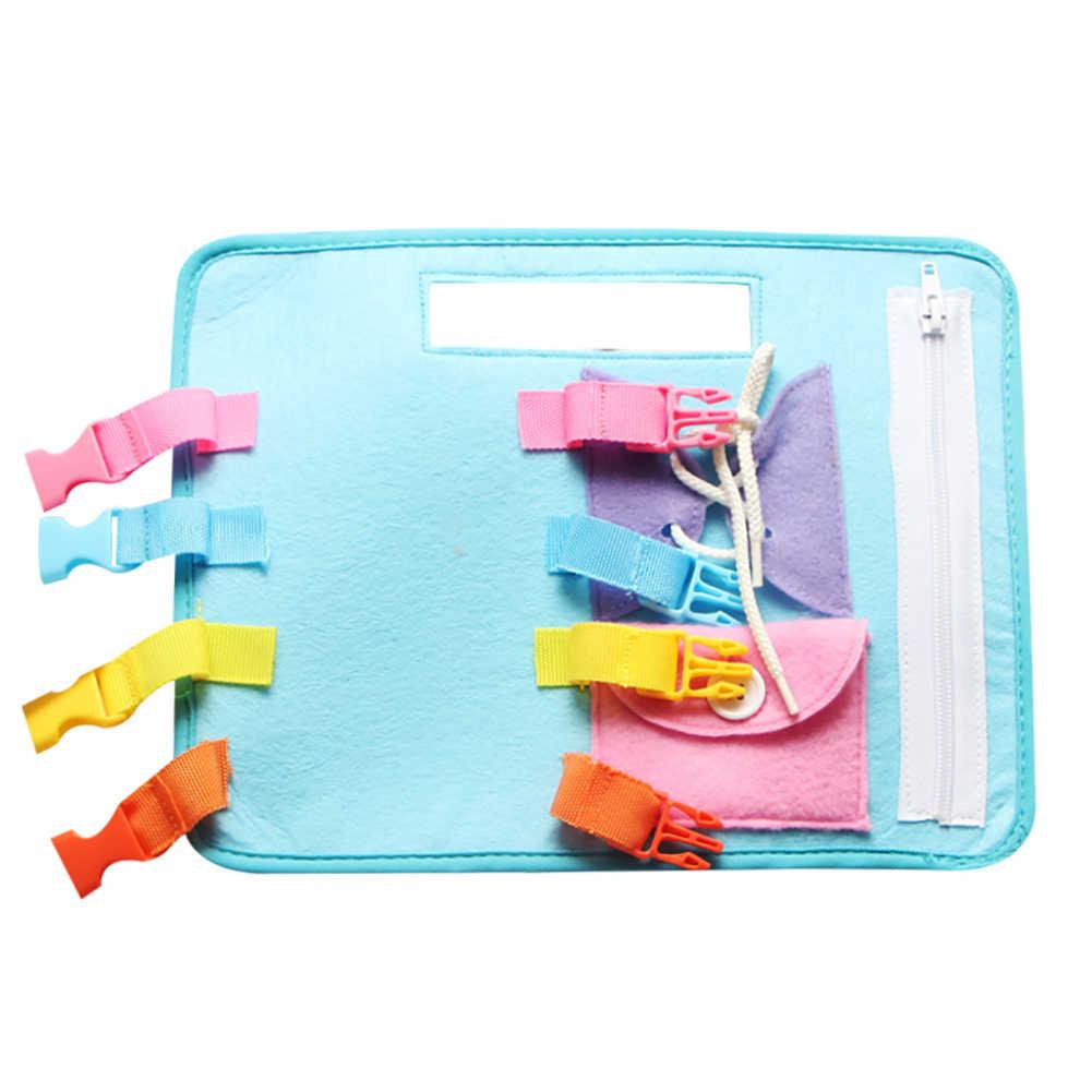 Botão Zip Lace Up Montessori brinquedos Do Bebê Fivela Rendas Brinquedos Diretoria de Ensino de Habilidades Básicas de Vida Da Criança Aprender a se Vestir para crianças