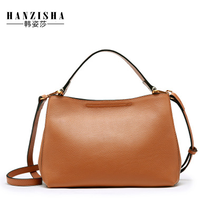 Fashion Brand Real Cow Leather Women Bag Natural Leather Handbag Shoulder Bag Luxury Designer Ladies Messenger Tote bolsos mujer 2017 fashion new women leather handbags litchi ladies messenger bag crossbody bag brand designer tote bag bolsos mujer de pp 237