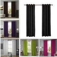Cortinas Modernas simples de Color liso para sala de estar  cortinas opacas de lino para dormitorio  cortinas para ventanas personalizadas