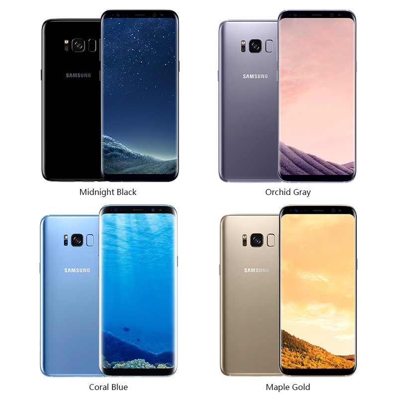 Original Unlocked Samsung Galaxy S8/S8 PLUS 4GB RAM 64GB ROM Single Sim Octa Core Android Phone Fingerprint Mobile Phone