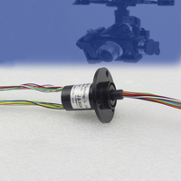 Out Diameter 22mm 24 Channel 40 8mm Capsule Conductive Slip Ring For High Speed Ball Fpv